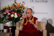 Дээрхийн Гэгээнтэн Далай Лам Сан Диего хотын төвөд иргэдтэй уулзаж байгаа нь. АНУ, Калифорниа, Сан Диего. 2017.06.18. Гэрэл зургийг Ерик Жепсен (СДКИС)