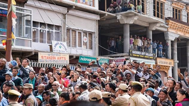 Далай-лама совершил паломничество в храм Джокханг в Ле