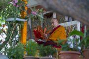 Его Святейшество Далай-лама дарует учения в монастыре Самтенлинг. Сумур, долина Нубра, штат Джамму и Кашмир, Индия. 14 июля 2017 г. Фото: Тензин Чойджор (офис ЕСДЛ)