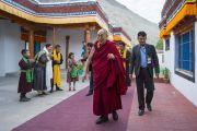 В заключительный день визита в долину Нубра Его Святейшество Далай-лама совершает паломничество в монастырь Самтенлинг. Сумур, долина Нубра, штат Джамму и Кашмир, Индия. 15 июля 2017 г. Фото: Тензин Чойджор (офис ЕСДЛ)