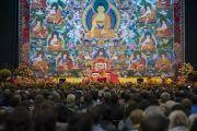 Дээрхийн Гэгээнтэн Далай Лам номын айлдварын эхний өдөр. Латви, Рига. 2017.09.24. Гэрэл зургийг Тэнзин Чойжор (ДЛО)