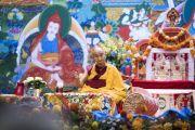 Дээрхийн Гэгээнтэн Далай Лам номын айлдвараа үргэлжлүүлэн айлдлаа. Латви, Рига. 2017.09.25. Гэрэл зургийг Тэнзин Чойжор (ДЛО)