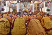 Его Святейшество Далай-лама дарует полные монашеские обеты тибетским и тайваньским монахам. Дхарамсала, Индия. 10 октября 2017 г. Фото: дост. Тензин Джампель