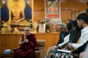 Дээрхийн Гэгээнтэн Далай Лам АНУ-ын Энх тайвны инситутын түүхэн замналын талаар өөрийн байр сууриа илэрхийлж байгаа нь. Энэтхэг, ХП, Дарамсала. 2017.11.06. Гэрэл зургийг Тэнзин Чойжор (ДЛО)