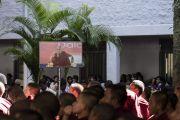 Слушатели во время лекции Его Святейшества Далай-ламы о важности светской этики в Тумкурском университете. Тумкур, штат Карнатака, Индия. 26 декабря 2017 г. Фото: Тензин Чойджор.