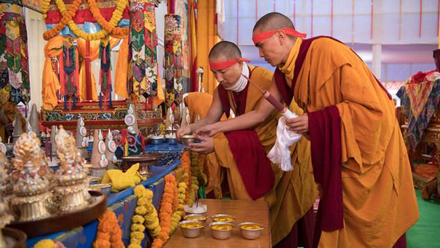 В Бодхгае состоялось посвящение Авалокитешвары и подношение молебна о долголетии