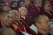 Слушатели во время второго дня конференции по вопросам ума в индийских философских школах мысли и современной науке, организованной в Центральном институте высшей тибетологии. Сарнатх, Варанаси, Индия. 31 декабря 2017 г. Фото: Лобсанг Церинг.