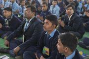 Некоторые из более чем 7 000 школьников и учителей из Бихара во время лекции Его Святейшества Далай-ламы. Бодхгая, штат Бихар, Индия. 25 января 2018 г. Фото: Лобсанг Церинг.