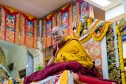 Его Святейшество Далай-лама дарует наставления во время церемонии подношения молебна о долгой жизни, организованной монахинями основных школ тибетского буддизма. Дхарамсала, Индия. 1 марта 2018 г. Фото: Тензин Чойджор.