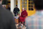 Его Святейшество Далай-лама дарует наставления более чем 600 паломникам, прибывшим из 50 стран мира. Дхарамсала, Индия. 5 марта 2018 г. Фото: Тензин Чойджор.
